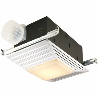 broan nutone 70 cfm ceiling bathroom exhaust fan with light and heater
