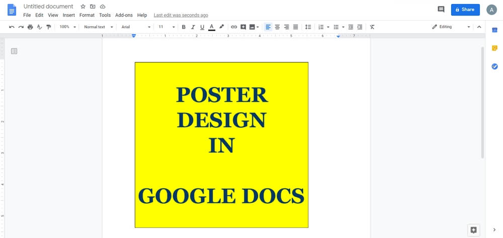 how to make a poster on google docs