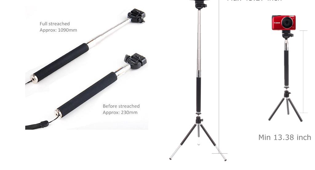 8x Zoom Lens Telescope+Tripod+Selfie Stick+Remote Shutter