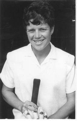 Photo: Trish McKelvey after making 155*, Basin Reserve 1966; 1966; 2018.5.43
