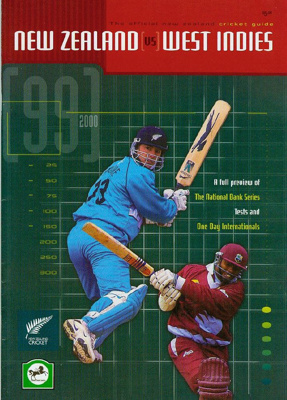 Tour Guide: The Official New Zealand Cricket Guide - New Zealand v West Indies 1999/2000; New Zealand Cricket; 1999; 2007.44.1