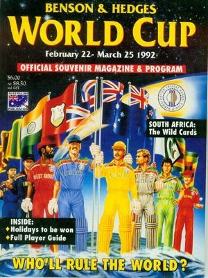 The official souvenir programme for the 1992 Crick...