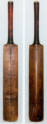 Cricket Bat: Bat belonging to Victor Trumper and presented to F.C. Raphael, Secretary, New Zealand Cricket Council 1905; John Wisden & Co. Ltd; Circa 1905; 2012.103.1