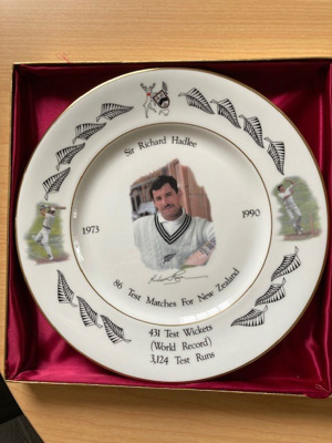 Plate: Limited Edition Richard Hadlee plate record plate; Royal Grafton; c. 1990; 2020.11.1