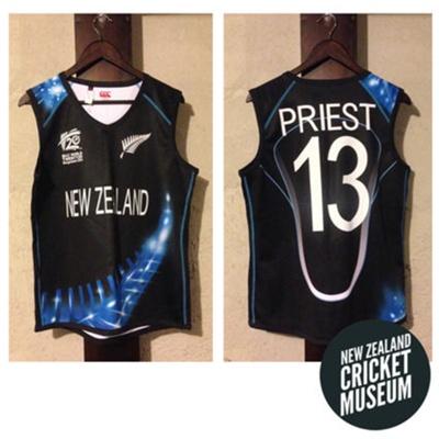 Vest: Rachel Priest's WHITE FERNS' 2014 WT20 Vest; Canterbury of New Zealand; 2014; 2016.25.1