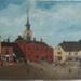 Baldock High Street, oil on board; later 1800s; 1993.5