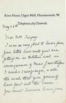 Letter from Annie Cobden Sanderson to Elizabeth Impey