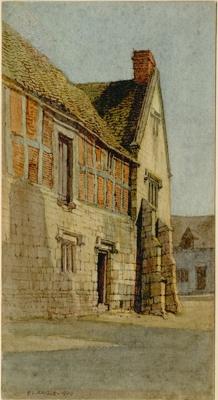"""""""The Corner Cupboard"""", watercolour, F L Griggs, 1909"""