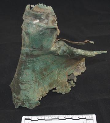 Roman copper alloy jug neck and upper body