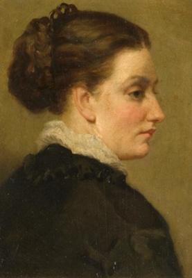 oil painting Miss Pilkington; Thomas, Margaret; 1874; 1930.5510