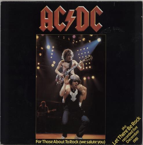 """AC/DC For Those About To Rock 12"""" vinyl single (12 inch record / Maxi-single) UK ACD12FO48088"""
