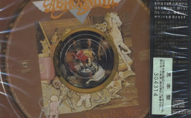 Aerosmith Toys In The Attic Japanese Promo Cd Album Cdlp