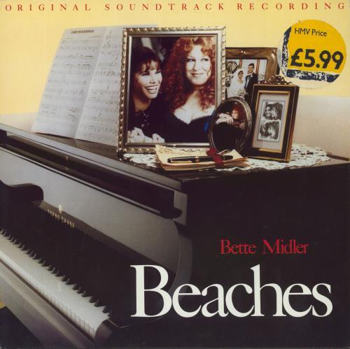 Bette Midler Beaches - Original Soundtrack Recording vinyl LP album (LP record) German BMILPBE585801