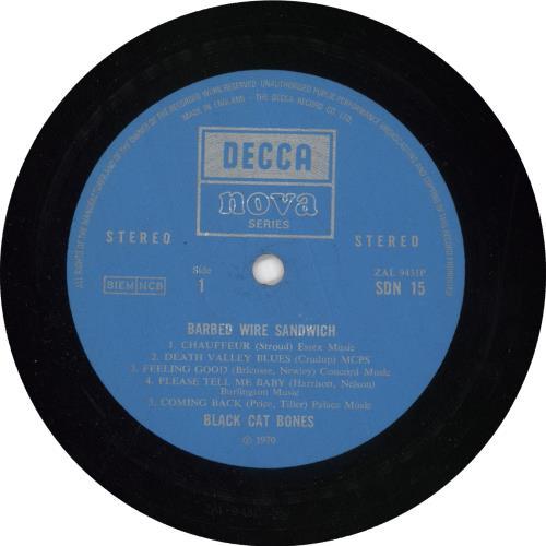Black Cat Bones Barbed Wire Sandwich - 1st - EX vinyl LP album (LP record) UK BC-LPBA706806