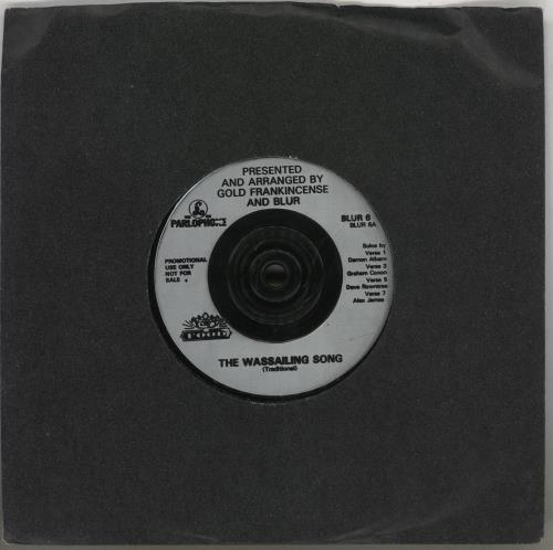 """Blur The Wassailing Song 7"""" vinyl single (7 inch record) UK BLR07TH257888"""