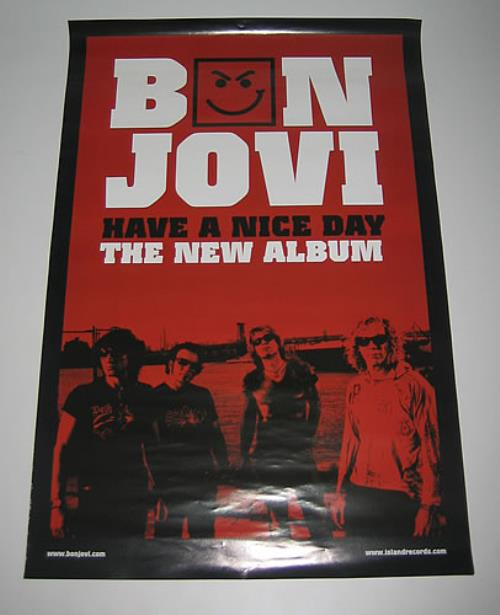 bon jovi have a nice day red taiwanese promo poster