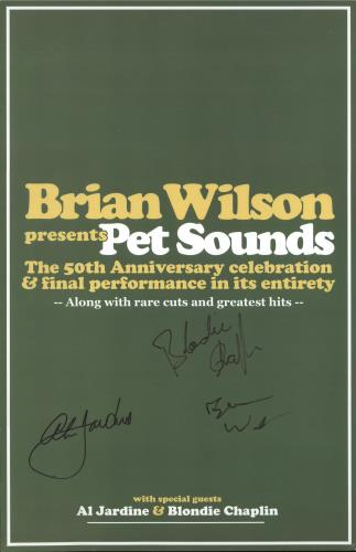Brian Wilson Pet Sounds Autographed 50th Anniversary Poster poster UK BWIPOPE730044