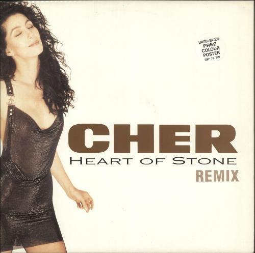 "Cher Heart Of Stone + Poster 12"" vinyl single (12 inch record / Maxi-single) UK CHE12HE09448"