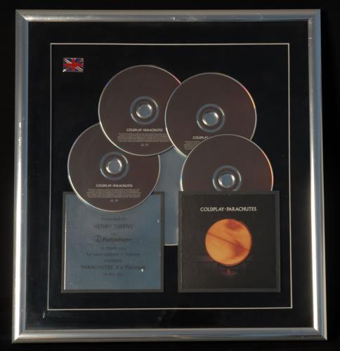 Coldplay Parachutes award disc UK DPYAWPA715435