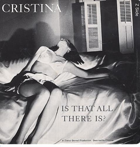 "Cristina Is That All There Is? 12"" vinyl single (12 inch record / Maxi-single) UK TNC12IS168415"