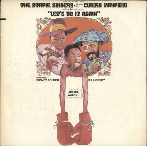 Curtis Mayfield Let's Do It Again vinyl LP album (LP record) US CMALPLE744981