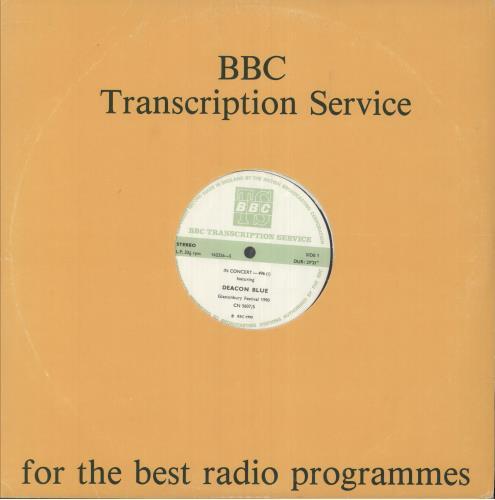 Deacon Blue In Concert - Glastonbury Festival 1990 vinyl LP album (LP record) UK DBLLPIN745573