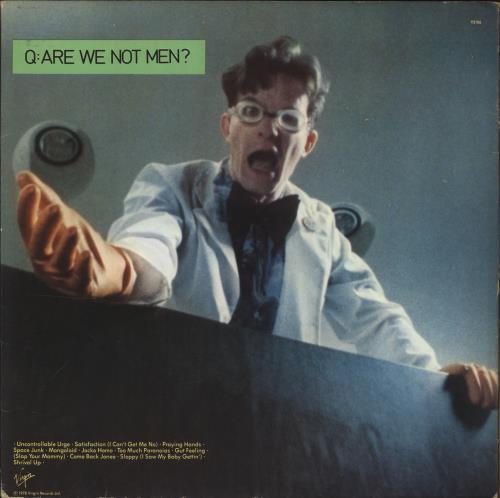 Devo Q: Are We Not Men? A: We Are Devo! - Green vinyl vinyl LP album (LP record) UK DVOLPQA701230