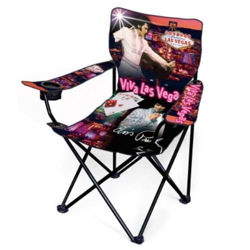 fold out lawn chair captains elvis presley viva las vegas - folding us memorabilia (332713) chepvlv