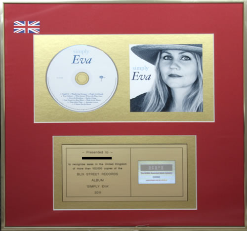 Eva Cassidy Simply Eva award disc UK E.CAWSI551735