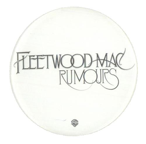 Fleetwood Mac Rumours US Promo badge (530589) PROMO BADGE