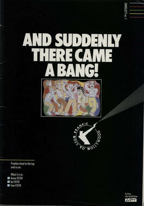 Frankie Goes To Hollywood And Suddenly There Came A Bang! book UK FGTBKAN741743