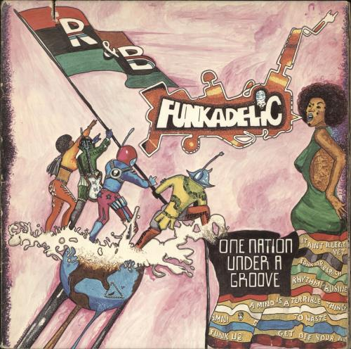 "Funkadelic One Nation Under A Groove + 7"" vinyl LP album (LP record) US FNKLPON363356"