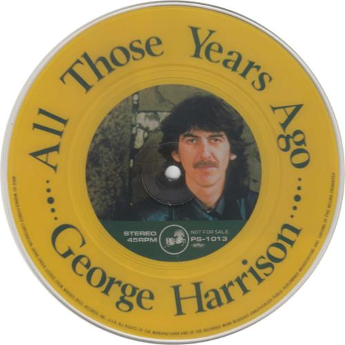 "George Harrison All Those Years Ago 7"" vinyl picture disc 7 inch picture disc single Japanese GHA7PAL214361"