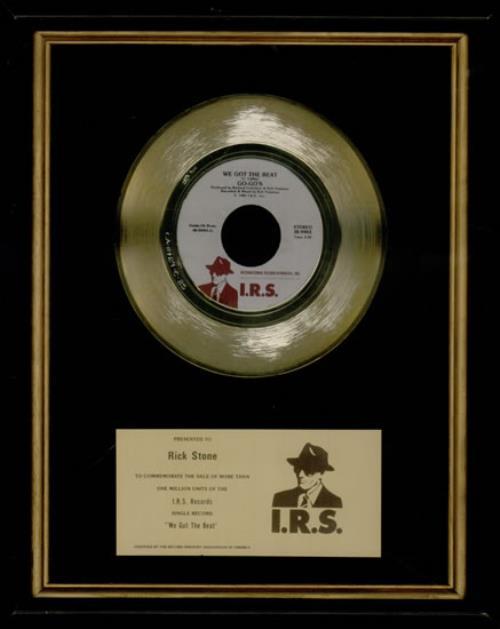 Go-Go's We Got The Beat award disc US GOGAWWE522780