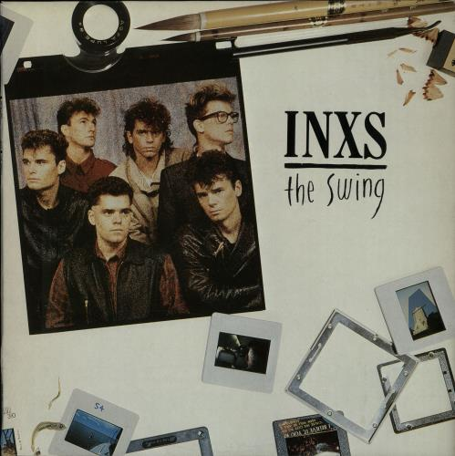 Inxs The Swing - Gold Promo Stamp vinyl LP album (LP record) UK INXLPTH651694