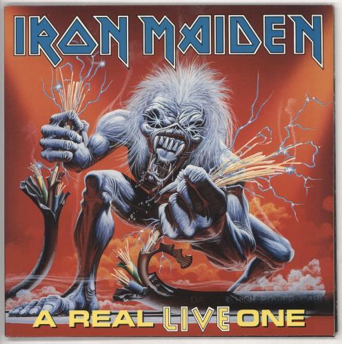 Iron Maiden A Real LIVE One vinyl LP album (LP record) UK IROLPAR221647