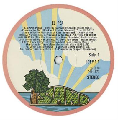 Island Records El Pea UK 2-LP vinyl record set (Double ...