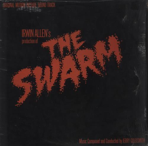 Jerry Goldsmith The Swarm - shrink vinyl LP album (LP record) UK J-0LPTH729051