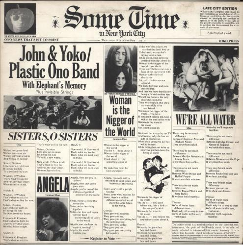 John Lennon Some Time - 1st - Complete - EX 2-LP vinyl record set (Double Album) UK LEN2LSO664636