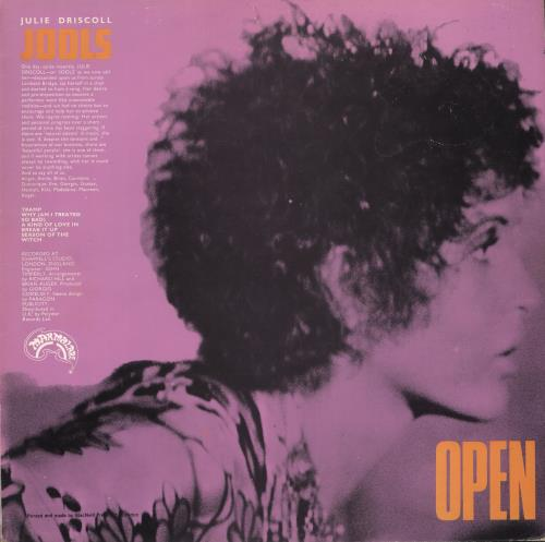 Julie Driscoll & Brian Auger Open - Matte - VG vinyl LP album (LP record) UK B&JLPOP633683
