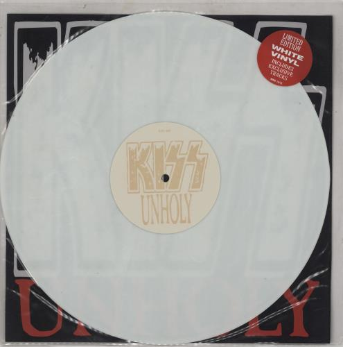 "Kiss Unholy - White Vinyl 12"" vinyl single (12 inch record / Maxi-single) UK KIS12UN05065"