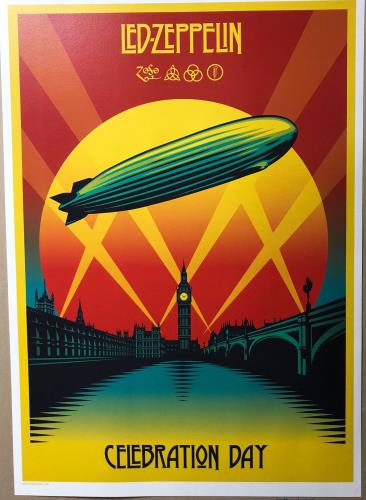 Led Zeppelin Celebration Day Lithograph poster UK ZEPPOCE722922