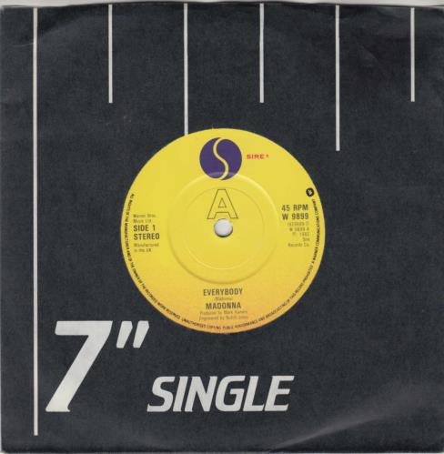"Madonna Everybody 7"" vinyl single (7 inch record) UK MAD07EV29852"