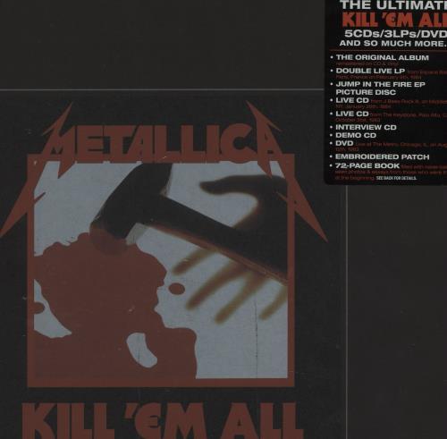 Metallica Kill 'Em All - Deluxe Box Set Vinyl Box Set US METVXKI675201