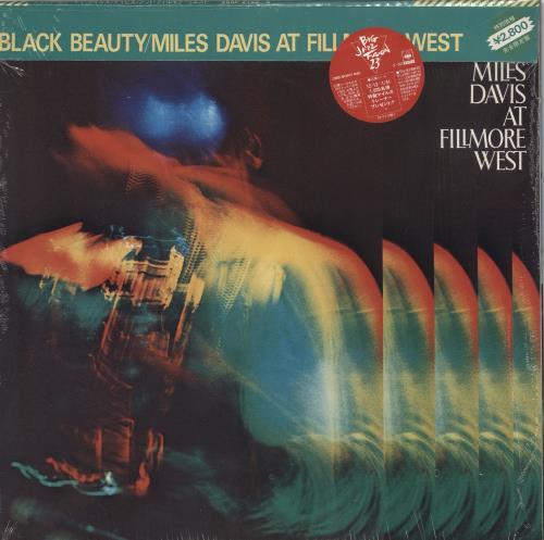 Miles Davis Black Beauty - Miles Davis At Fillmore West + top obi 2-LP vinyl record set (Double Album) Japanese MDA2LBL578807