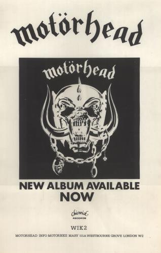 Motorhead Motorhead poster UK MOTPOMO735226