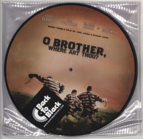 Original Soundtrack O Brother, Where Art Thou? picture disc LP (vinyl picture disc album) UK OSTPDOB732262