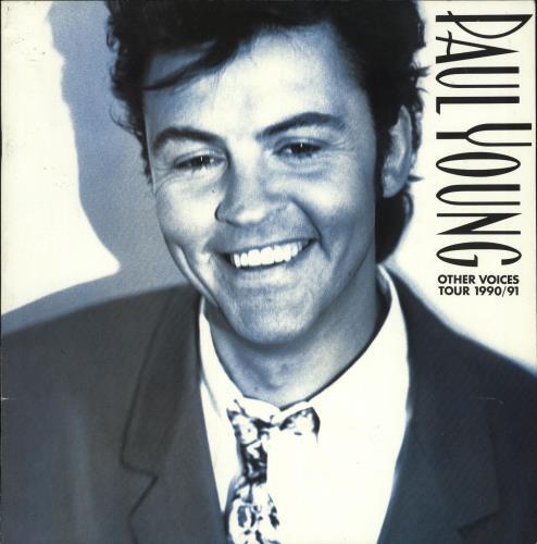 Paul Young Other Voices Tour 1990/91 - Autographed + Pass & Setlist tour programme UK PYOTROT727895