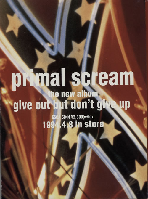 Primal Scream Give Out But Don't Give Up Japanese Promo media press kit (575390) PRESS KIT