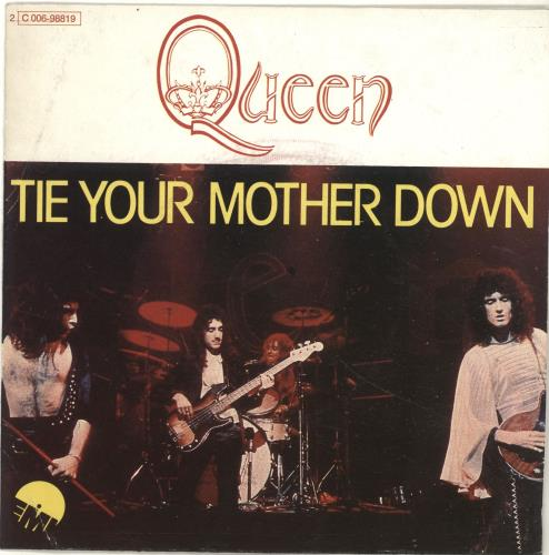 "Queen Tie Your Mother Down 7"" vinyl single (7 inch record) French QUE07TI84817"